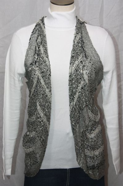 Woven Grey/White/Black Vest/Scarf