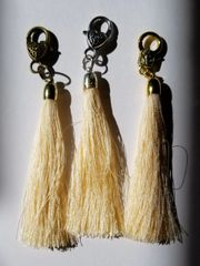 Naples Yellow Silk Tassels with Clasp