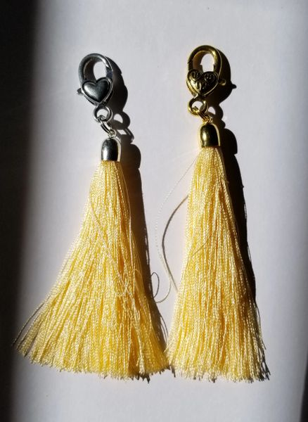 Naples Yellow Deep Silk Tassels with Clasp