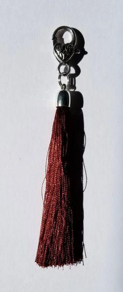 Brown Ochre Medium Silk Tassels with Clasp