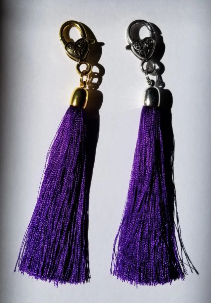 Dark Violet Silk Tassels with Clasp