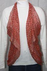 Woven Orange/Red Vest/Scarf