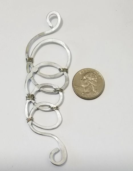 Aluminum Smooshed Tornado Clasp - Scarf, Jewelry, and Clothing Accessory