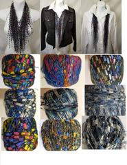 Blue Mix Cascade Jewel Infinity Scarf