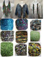 Turquoise Purple Green Cascade Jewel Infinity Scarf