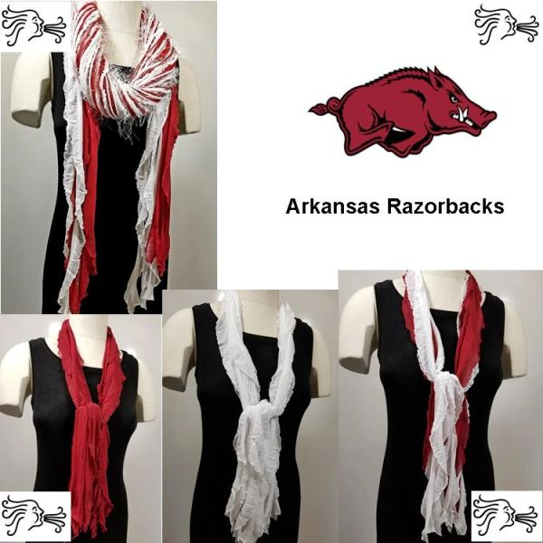 NCAA SEC Arkansas Razorbacks Scarf Lightweight