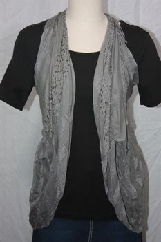 Rayon Gray Vest/Scarf
