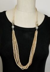 Champagne Crystal 3-Way Necklace with Magnetic Clasps