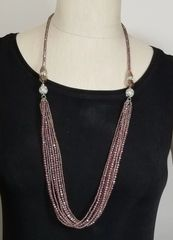 Purple Crystal 3-Way Necklace with Magnetic Clasps