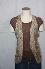 Woven Light Brown Vest/Scarf