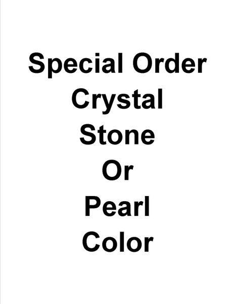 Initial Special Order Crystal, Stone or Pearl Color Bar Silver Necklace 16 Inch Chain