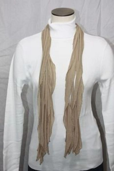 Light Brown Taupe Flutter Scarf