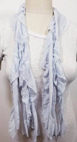 Ice Blue Flutter Scarf
