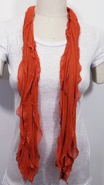 Burnt Orange Flutter Scarf