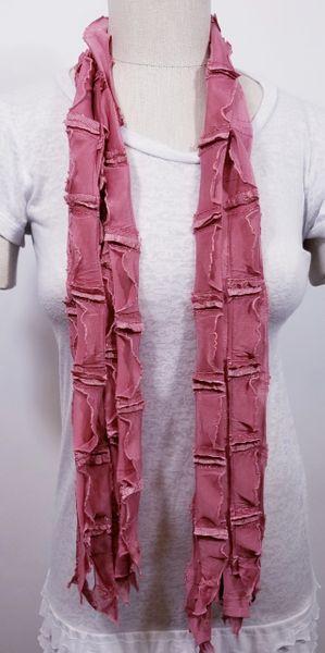 Mauve Pink Ribbon Flutter Scarf