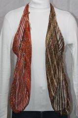 Woven Brown/Red Vest/Scarf