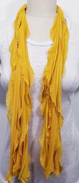 Golden Mustard Yellow Flutter Scarf