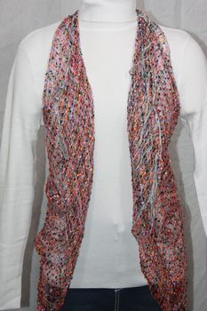 Woven Yellow/Black/Red/Purple Multi Vest/Scarf