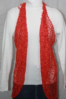 Woven Red Vest/Scarf