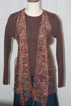 Woven Multi Brown Vest/Scarf