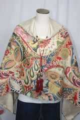 Handcrafted Paisley Ultrasuede Poncho