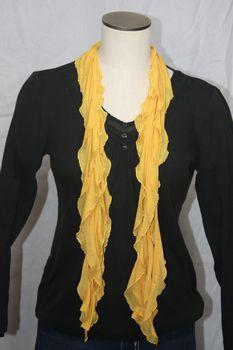 Mustard Yellow Flutter Scarf