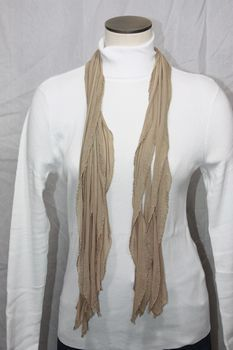 Taupe Flutter Scarf