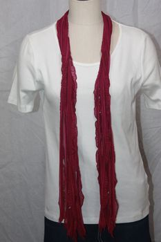 Raspberry Purple Flutter Scarf
