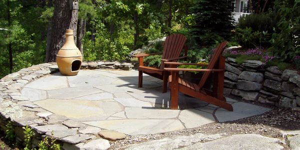 Steps, walkways, patios, retaining & seating wall, fire pit, outdoor grill or kitchen, slate, pavers