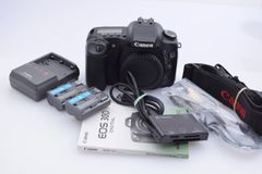 CANON EOS 30D BODY, 2 BATTERIES, CHARGER, STRAP, CAP++