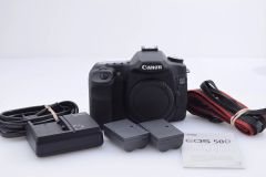 CANON EOS 50D BODY w/2 BATTERIES, CHARGER, GUIDE, STRAP