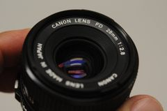 CANON 28mm F2.8 FD LENS, UV, CAPS