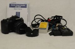 OLYMPUS E-510 BUNDLE w/14-42mm F3.5-5.6 FOUR THIRDS, 2BATTS++