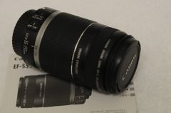 CANON EF-S 55-250mm F4-5.6 IS ZOOM LENS w/CAPS, MANUAL
