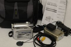 JVC GR-D347u MINI DV CAMCORDER, BATTERY, CHARGER, CASE, INSTRUCTIONS