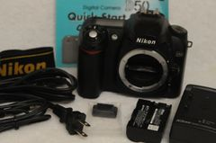 NIKON D50 BODY ONLY, BATTERY, CHARGER, STRAP, USB, QUICK GUIDE