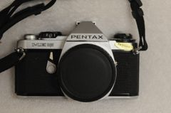 EXC++ PENTAX ME SUPER 35mm BODY, CAP, STRAP