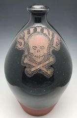 Shine Jug with Skull and Bones