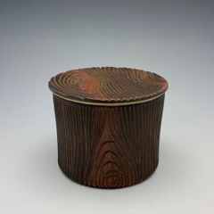 Wood Grain French Butter Dish