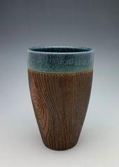 Denim Blue Wood Grain Tumbler