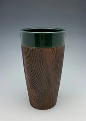 Wood Grain Tumbler finished in Hunter Green