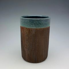 Denim Blue Woody Tumbler