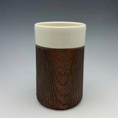 Woody Tumbler with White finish