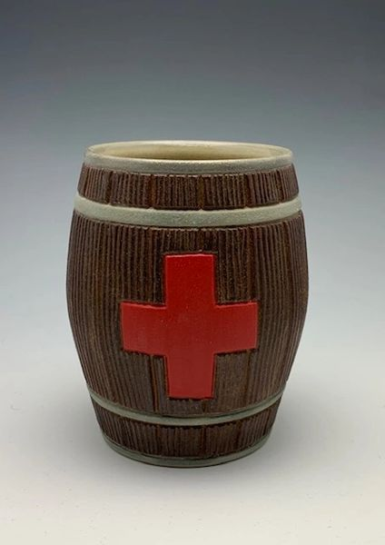 Third Aid Barrel (matte Red Cross)