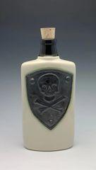 Metallic Skull n' Bones shield Flatk