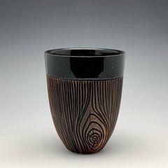 Inverted Woodgrain Tumbler