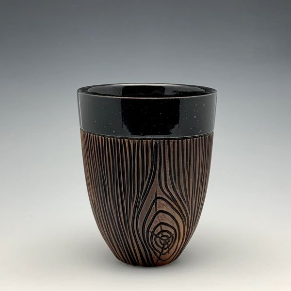 Inverted Woodgrain Tumbler