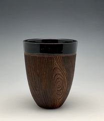 Black Woodgrain Tumbler