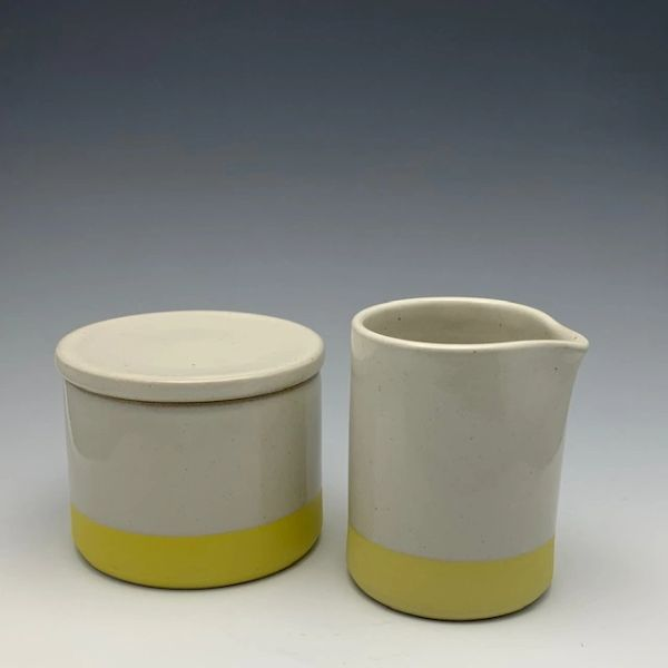 Matching Creamer and French Butter Dish