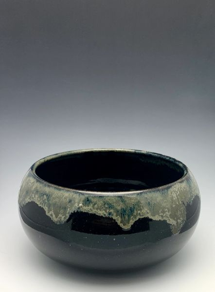 Shallow Black Galaxy bowl
